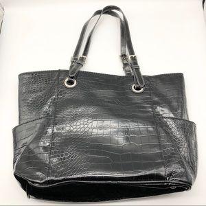 Merona Black Snake Skin Design Shoulder Bag